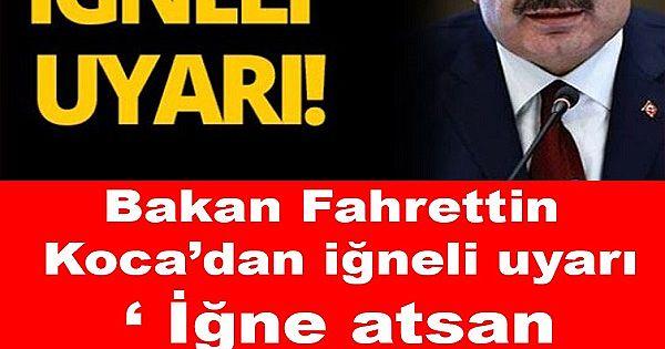 Bakan Fahrettin Koca'dan iğneli uyarı