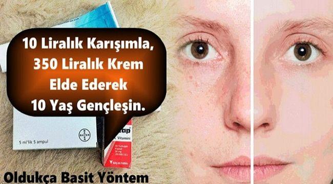 10 Liralık Karışımla, 350 Liralık Krem Elde Ederek 10 Yaş Gençleşin.